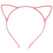ASX Design Cute Sexy Womens Attractive Vivid Colour Cat Ear HeadBand Hair Band Pink