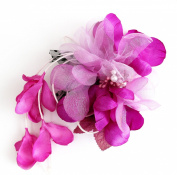 mykimono Women's Japanese Kimono Hair Accessorie Flower(purple) h038