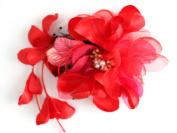 myKimono Women's Japanese Kimono Hair Accessorie Flower(Red) h037