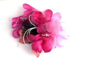 mykimono Women's Japanese Kimono Hair Accessorie Flower (Pink) h036