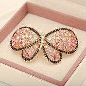 Prettyou Bling Bling Crystal Butterfly Charms Hair Clips French Barrette Clips