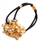 Ficcare Glittery Waterfall Pony Tail Holder in Gold & Crystal