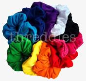 Cotton Scrunchie Set, Set of 10 Soft Cotton Scrunchies