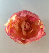 Small Classic Peony Artificial Flower Hair Clip/Pin Brooch