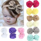 Datework 9PCS Babys Girls Chiffon Flower Elastic Headband Photography Headbands
