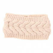 Encounter Womens Plain Braided Winter Knit Headband