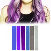 Best Smokestack Ombre Hair Dye Set | Blue, Violet, Purple, Grey and Silver Hair Colour | SMOKESTACK Temporary Vibrant Hair Dye | HairChalk
