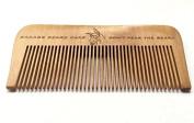 Wood Beard Comb - Fine Tooth, Anti-Static