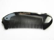 Myhsmooth Bb-yx-nt Handmade No Static Mini Fish Shaped Pocket Beard Black Buffalo Horn Comb