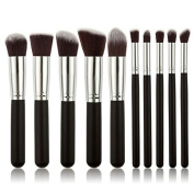 10pcs Makeup Brushes Makeup Brush Set Cosmetics Foundation Blending Blush Eyeliner Face Powder Brush