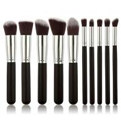 10pcs Makeup Brushes Makeup Brush Set Cosmetics Foundation Blending Blush Eyeliner Face Powder Brush