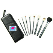 Kolight® 8pcs Top Professional Cosmetic Makeup Brush Set Kit Brushes & tools Make up Case Zipper
