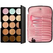 Yoyorule 15 Colours Concealer + 10 PCS Makeup Brush