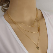 A & C 2015 Hot Cakes Bohemia 3 Tier Coin Shaped Necklaces for Girl, Fashion Casual Necklace for Girls on Party/ Evening/ Wedding.