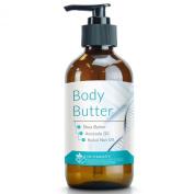 Dr. Straight's Body Butter - Shea Butter - Avocado Oil - KuKui Nut Oil - Nourish & Replenish Skin Moisture - Pharmacist Formulated