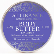 Attirance - Body Butter - Lavender - 200ml - All Natural with Lavender Essential Oil, Cacao Butter & Grape Seed Oil