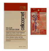 cellcosmet cellular eye contour cream 30ml with Daiso Japan oil blotting paper
