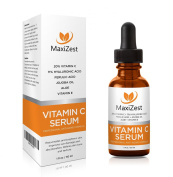 Vitamin C Serum For Face and Skin - With 20% Vitamin C + E + Hyaluronic Acid - Our #1 BEST Serum to Fade Sun Spots & Discoloration - Rejuvenates & Brightens Skin - Guaranteed Glow! - 1oz