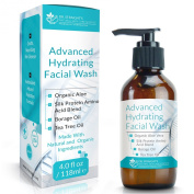Dr. Straight's Advanced Hydrating Facial Wash - Gentle, Nourishing Skin Cleanser + Antioxidant Infused Hydration Formula - Pharmacist Formulated