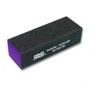Sassi Black Purple Emery Block, 60/100/100, 70ml by Sassi