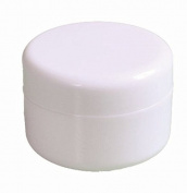 4 Pcs 50ml 1.7oz Plastic White Jar with Dome Lid Caps Cosmetic Containers Cream Box White