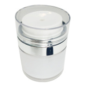 Perfectos Empty Clear Pump Bottle White Round Lid 15 Ml Luxury Acrylic Clear Empty Skincare Containers