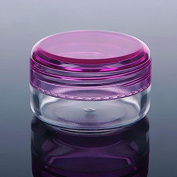 10pcs 15ml Mini Empty Jar Pot Eyeshadow Face Cream Lip Balm Container Cosmetic Make Up Containers Bottles Purple Cap