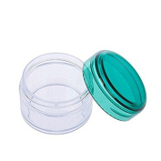 15ml 15g Mini Empty Jar Pot Eyeshadow Face Cream Lip Balm Container Cosmetic Make Up Containers Bottles 10pcs Green Cap
