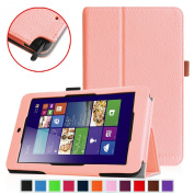 Fintie Premium Vegan Leather Case for ASUS VivoTab Note 8 M80TA Tablet (Windows 8.1) Slim Fit Stand Cover With Stylus Holder - Pink