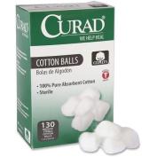 CURAD CUR110163 Sterile Cotton Balls, 2.5cm , 130/Box