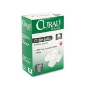 Curad - Sterile Cotton Balls, 2.5cm , 130/Box CUR110163 (DMi BX