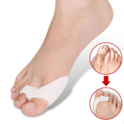 Healtheveryday®Generation Soft Silicone Splint Pad Bunion Two Toe Straightener Spreader Corrector Protector Adjuster Separator Foot Pain Relief Upgraded 2nd Unisex