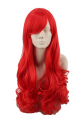 Women's Fibre Wavy Curly Long Cosplay Wig Halloween Party Hair Red