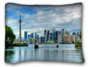 Custom ( City Toronto Ontario Canada ) Pillow Cushion Case Cover One Sides Printed 50cm x 70cm suitable for Twin-bed PC-Bluish-51942