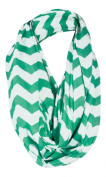 Breastfeeding Cover Infinity Nursing Scarf - Mint / White Chevron Pattern - Many Colours and Patterns of Breastfeeding Scarves - Tykes & Tails Baby Nursing Cover / Breastfeeding Scarf