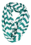 Nursing Cover Scarf - Teal/White Chevron Infinity Scarf - Nursing - Private Breast Feeding- Less Distractions - For Expectant Mothers - Also Wears as a Scarf