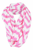 Nursing Cover Scarf - Pink/White Chevron Infinity Scarf - Nursing - Private Breast Feeding- Less Distractions - For Expectant Mothers - Also Wears as a Scarf