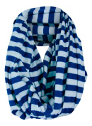 Nursing Cover Scarf - Blue/White Stripe Infinity Scarf - Nursing - Private Breast Feeding- Less Distractions - For Expectant Mothers - Also Wears as a Scarf