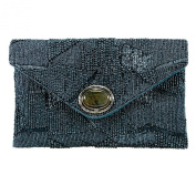 Mary Frances Blue Shimmer Clutch
