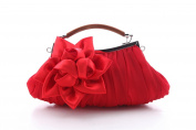 Generics Floral Embellish Sheer Chiffon Exterior Party Clutch-evening Out Collection