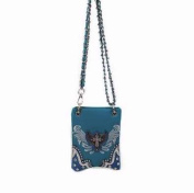 Accent Accessories 122351 Bag-Cross Body With Small Studded Cross And Wing - Turquoise