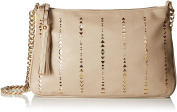 Dolce Girl Metallic Perforated Cross Body