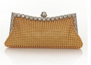 Generics Women's Aluminium Framed Clutch Bags Satin Inner Pearl Evening Bags