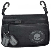 Harley-Davidson Rally Hip Bag, Willie G Skull Rubber Patch Logo RL7251S-GRYBLK