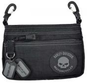 Harley-Davidson Rally Hip Bag, Willie G Skull Rubber Patch Logo RL7251S-GRYBLK