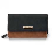 Alfred Durante Designer Women's Black And Brown Faux Leather Wallet by The Bradford Exchange