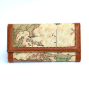 Women's Trifold Map Printed Wallet