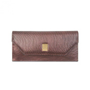 Omnia Crystal Women's Leather Slim Long Wallet Purse & Credit Card Holder