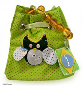 Reversible cotton handbag, 'Whimsy'