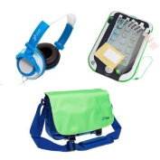 Ultimateaddons® Boys Bag Bundle for LeapFrog LeapPad Ultra / XDi / Platinum, including Bag, Headphones and Screen Protectors